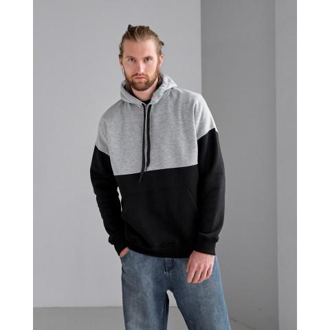 Чоловіче худі комбінованого кольору формата oversize