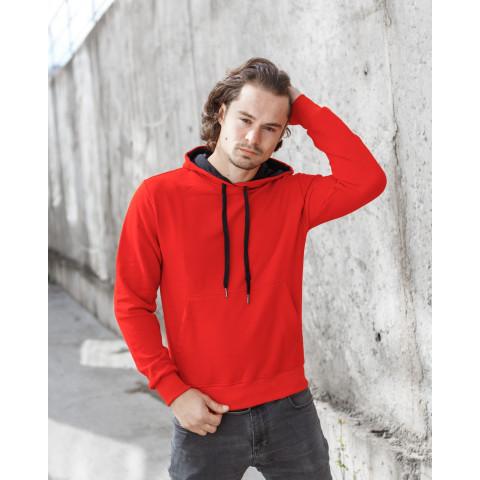 Базове однотонне худі червоного кольору