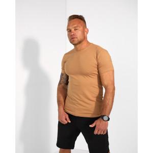Базова чоловіча футболка бежевого  кольору