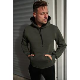 Базове утеплене флісом чоловіче худі 20100 кольору ХАКІ