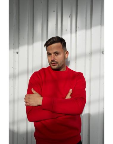 Світшот базовий чоловічий червоного кольору 2098