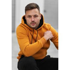Базове утеплене флісом чоловіче худі 20100 гірчичного кольору