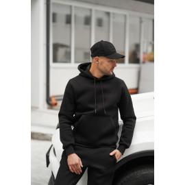 Базове утеплене флісом чоловіче худі 20100 чорного кольору