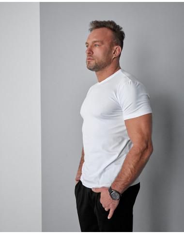 Стильна чоловіча футболка 1812 без малюнку білого кольору