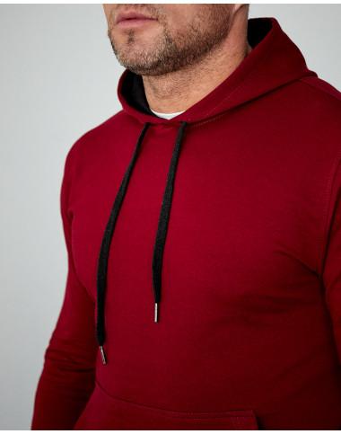 Чоловіче худі бордового кольору (весна) 2102